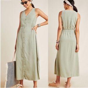 New Cloth & Stone Button Up Maxi Sleeveless Dress